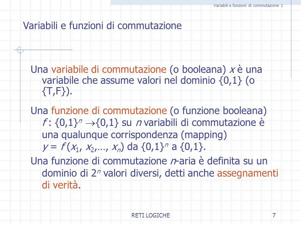 Variabili e funzioni di commutazione 1