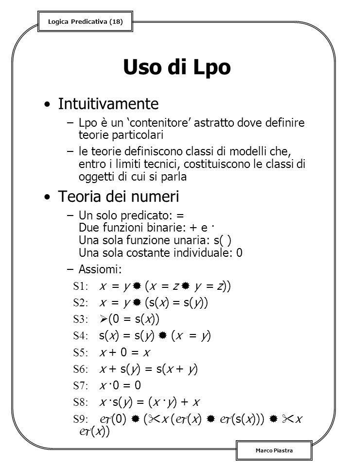 Uso di Lpo Intuitivamente Teoria dei numeri