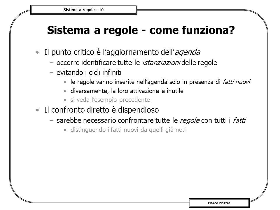 Sistema a regole - come funziona