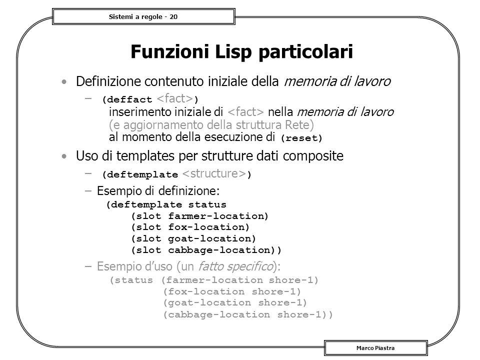 Funzioni Lisp particolari