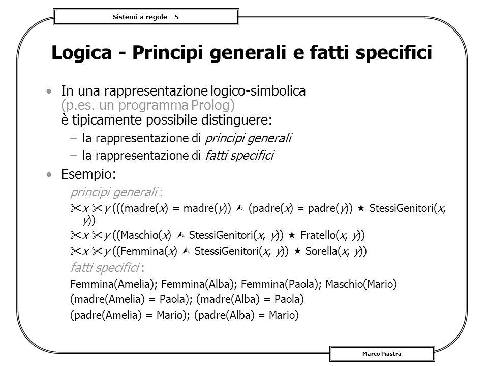Logica - Principi generali e fatti specifici