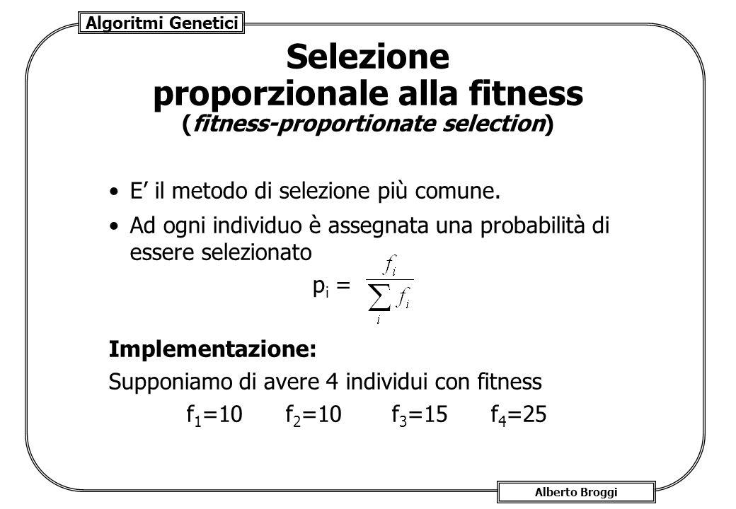 Selezione proporzionale alla fitness (fitness-proportionate selection)