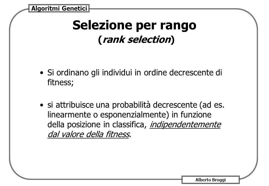 Selezione per rango (rank selection)