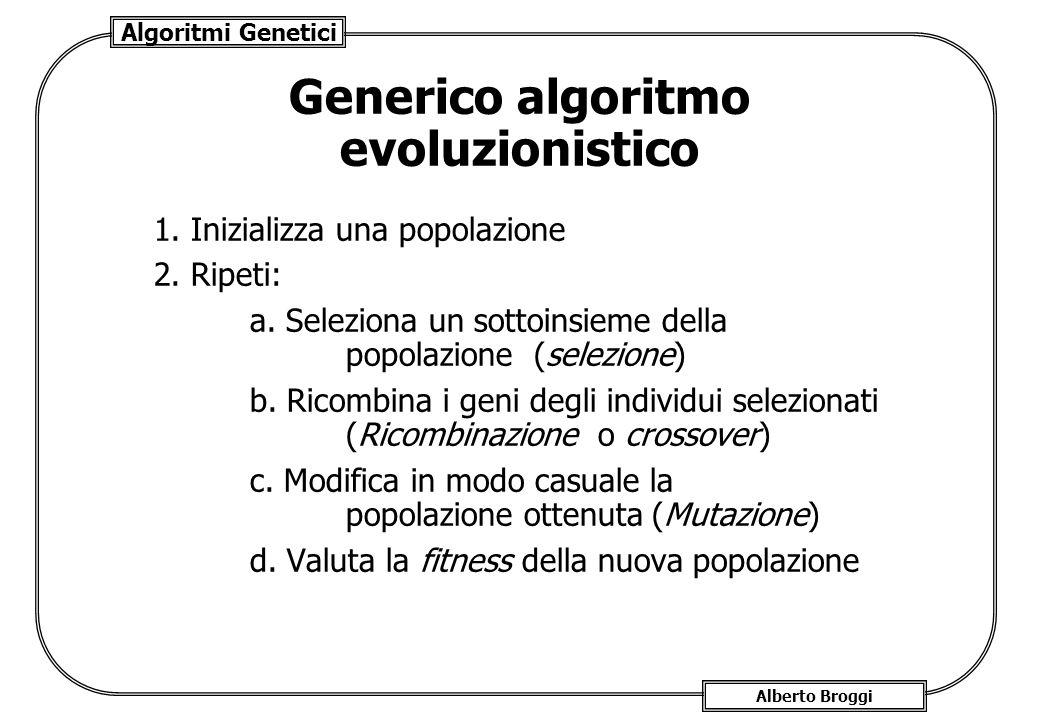 Generico algoritmo evoluzionistico