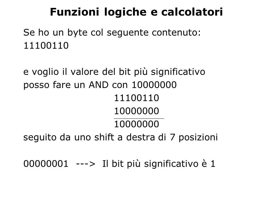 Funzioni logiche e calcolatori