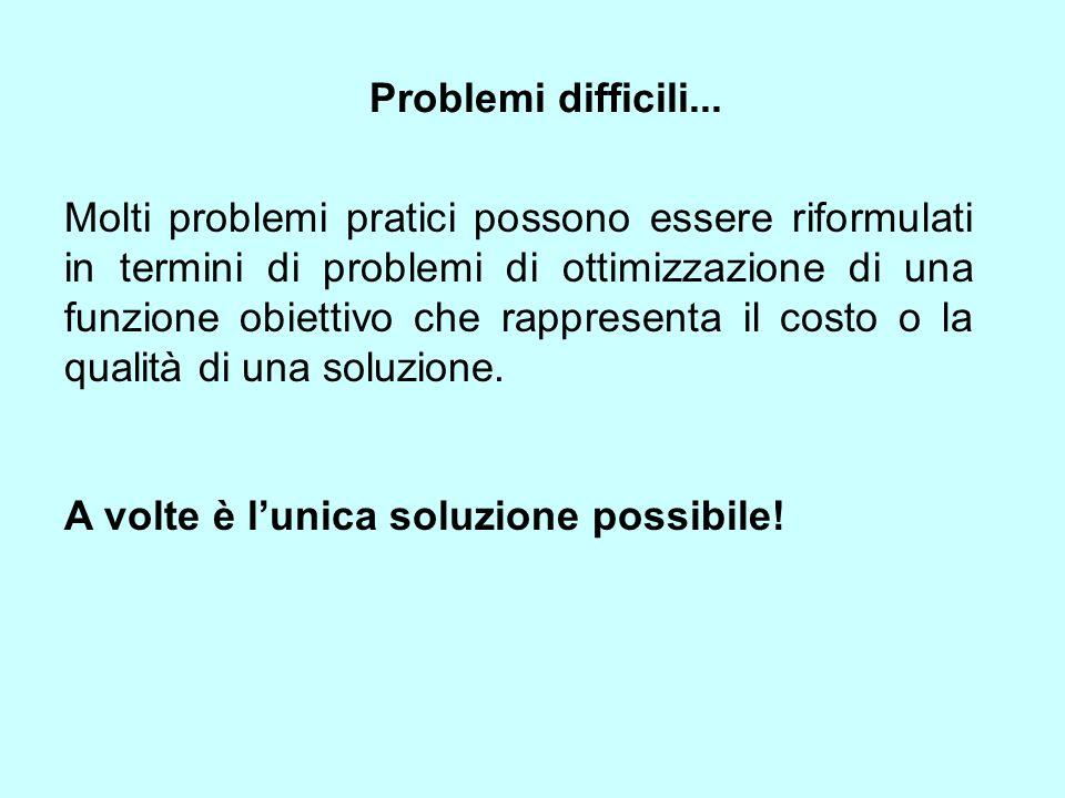 Problemi difficili...
