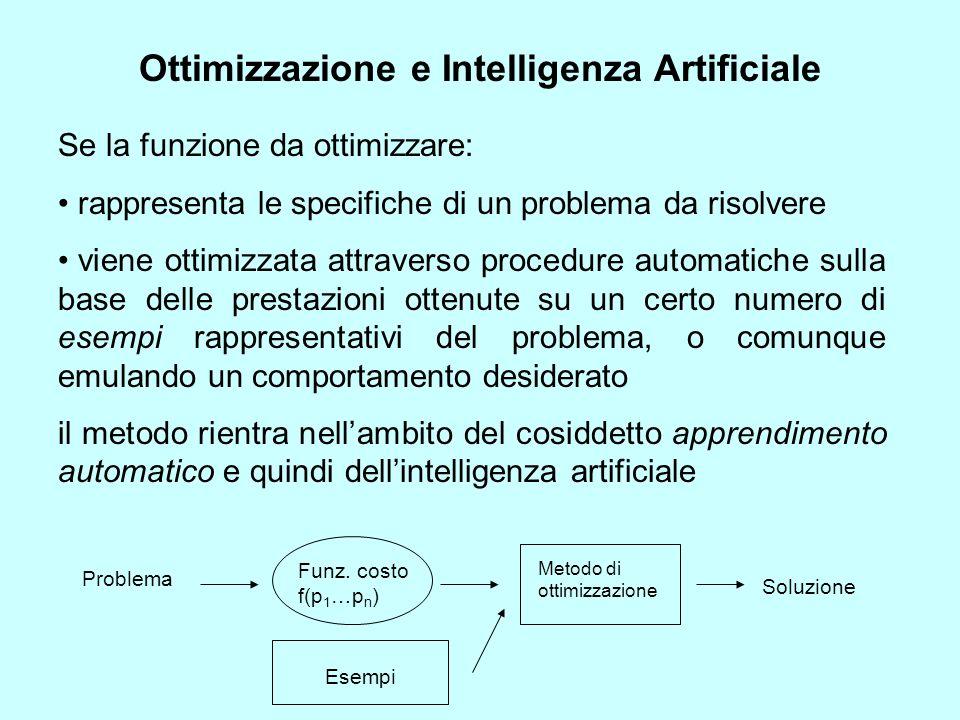 Ottimizzazione e Intelligenza Artificiale