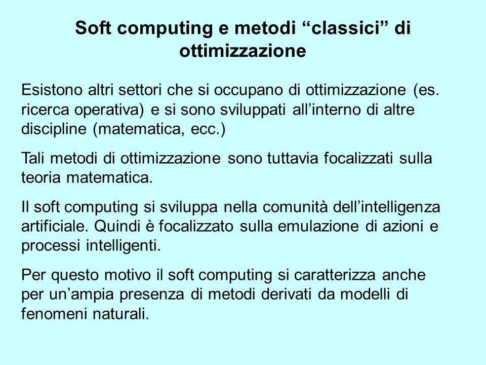 Soft computing e metodi classici di ottimizzazione