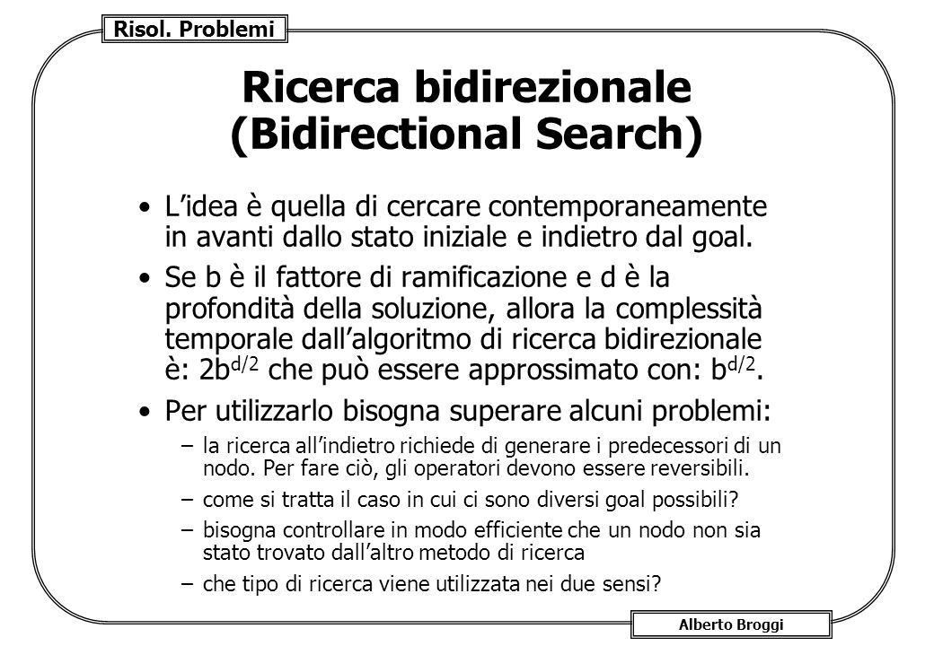 Ricerca bidirezionale (Bidirectional Search)