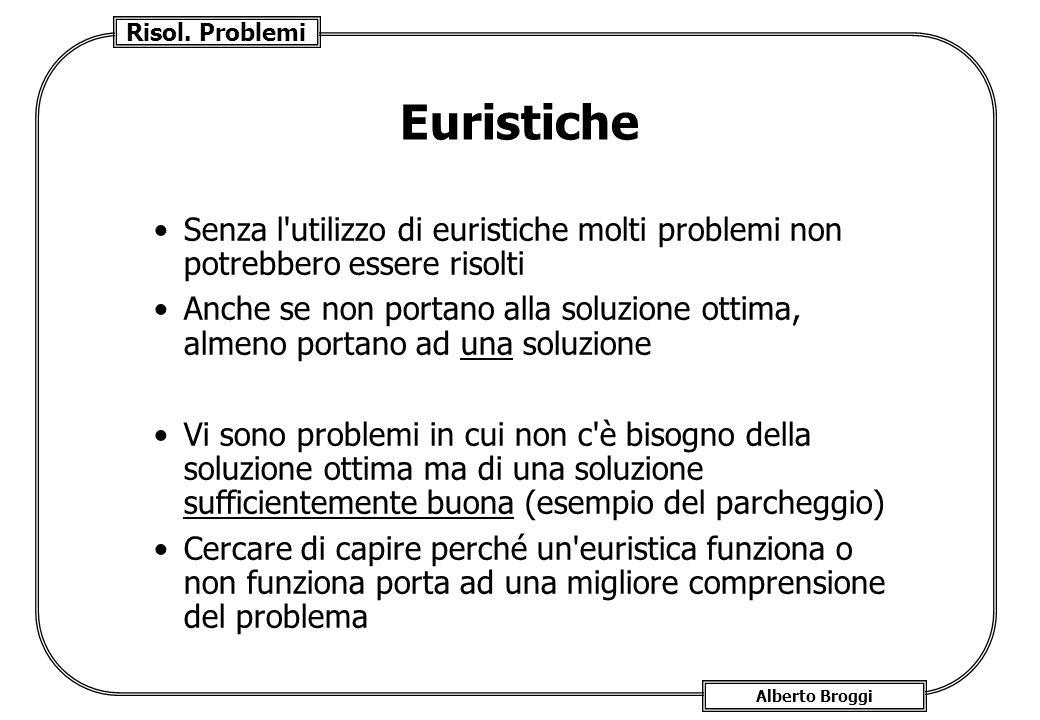 Euristiche Senza l utilizzo di euristiche molti problemi non potrebbero essere risolti.