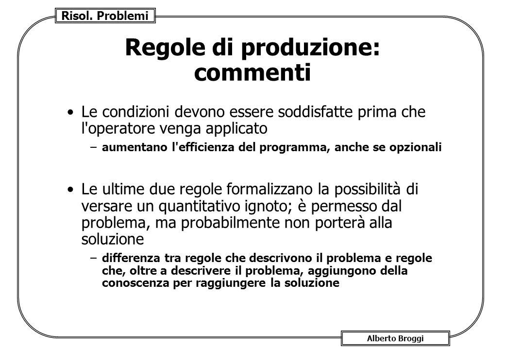 Regole di produzione: commenti