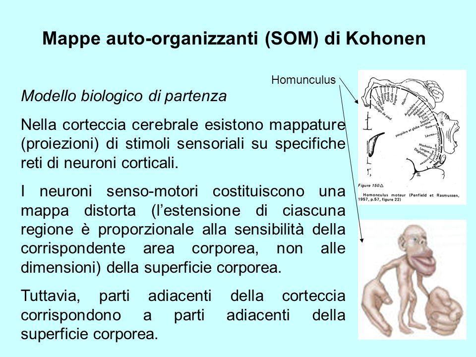 Mappe auto-organizzanti (SOM) di Kohonen