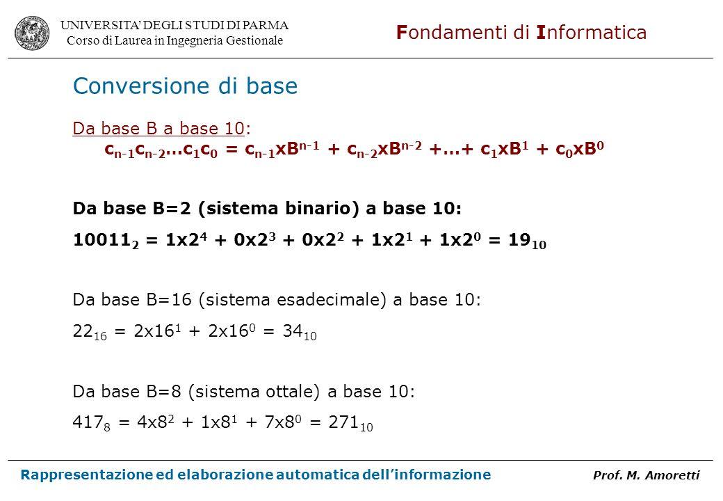 cn-1cn-2…c1c0 = cn-1xBn-1 + cn-2xBn-2 +…+ c1xB1 + c0xB0