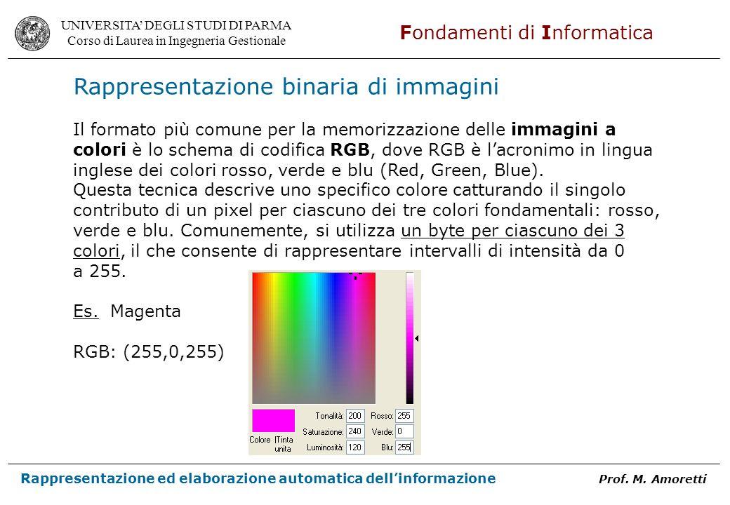 Rappresentazione binaria di immagini