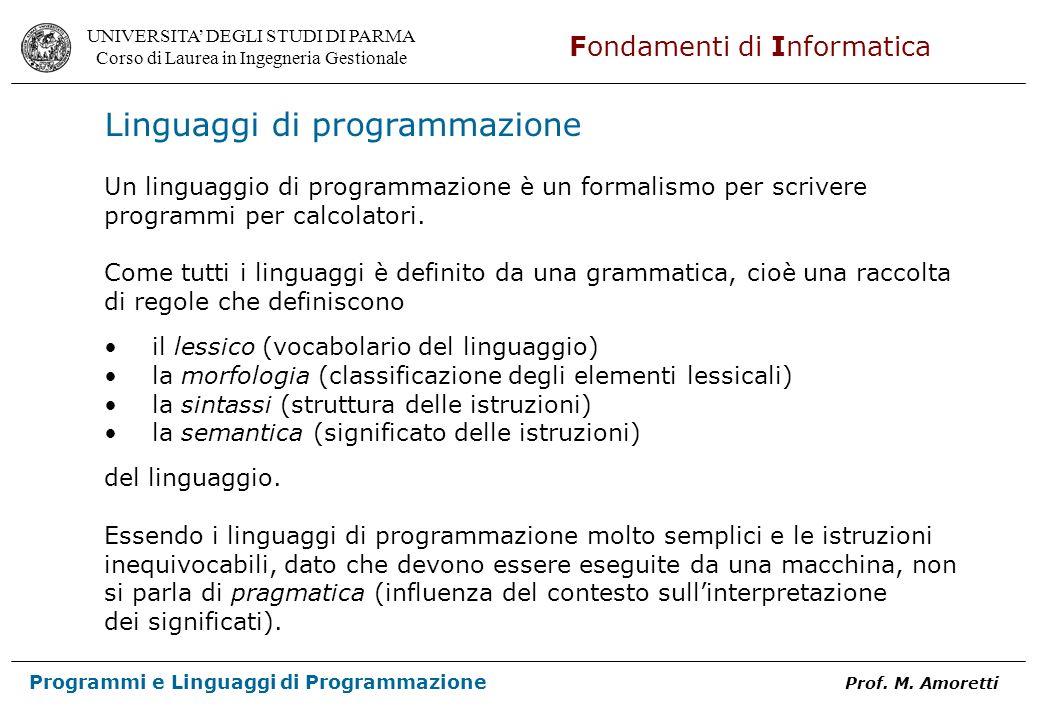 Linguaggi di programmazione