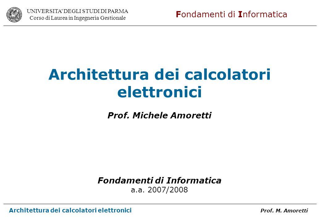 Architettura dei calcolatori elettronici