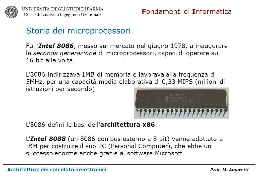 Storia dei microprocessori