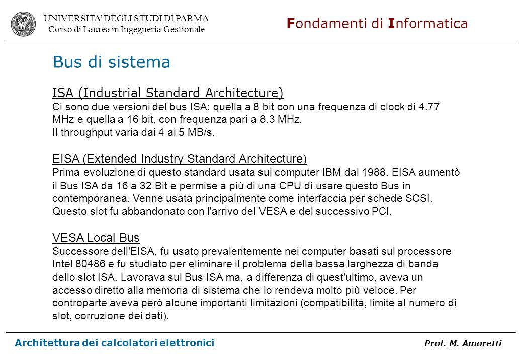 Bus di sistema ISA (Industrial Standard Architecture)