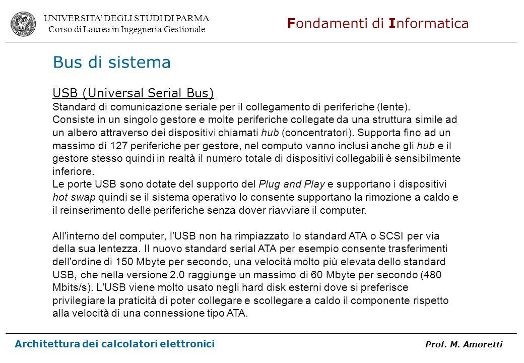 Bus di sistema USB (Universal Serial Bus)