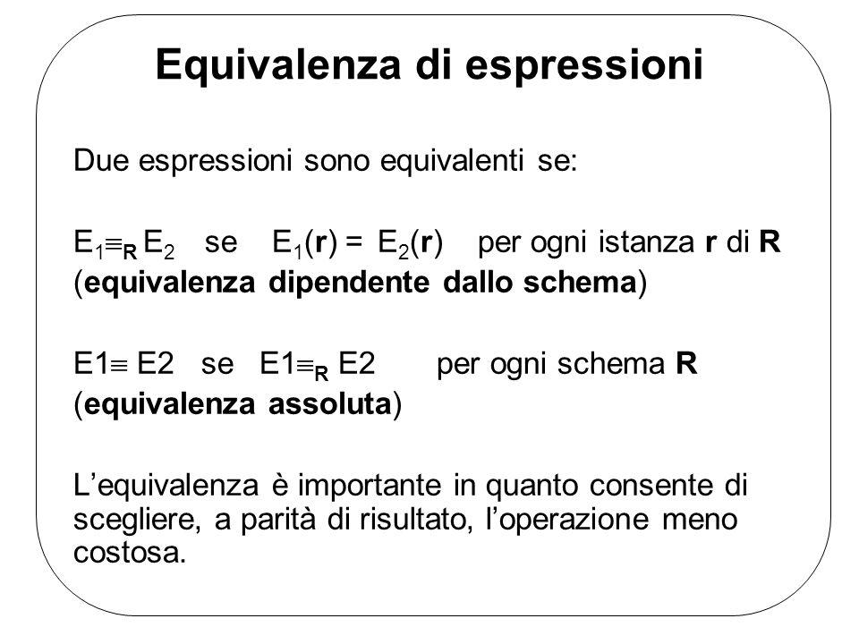 Equivalenza di espressioni