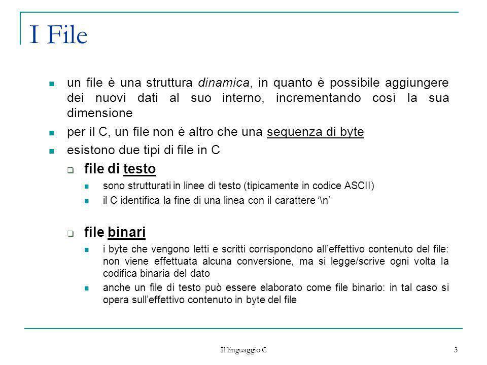 I File file di testo file binari