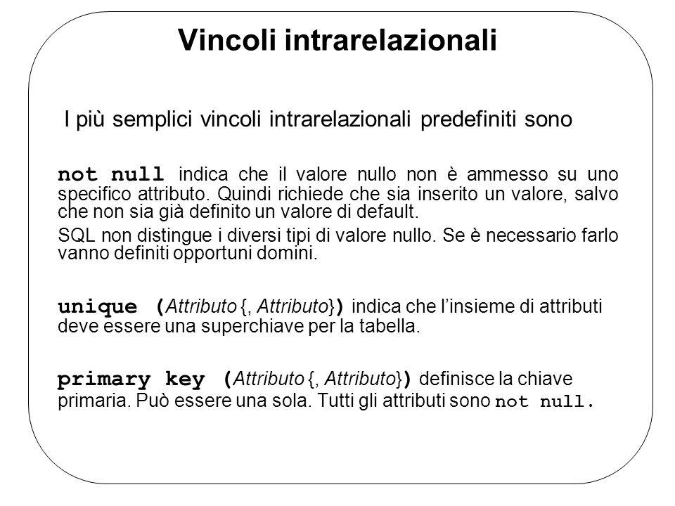 Vincoli intrarelazionali