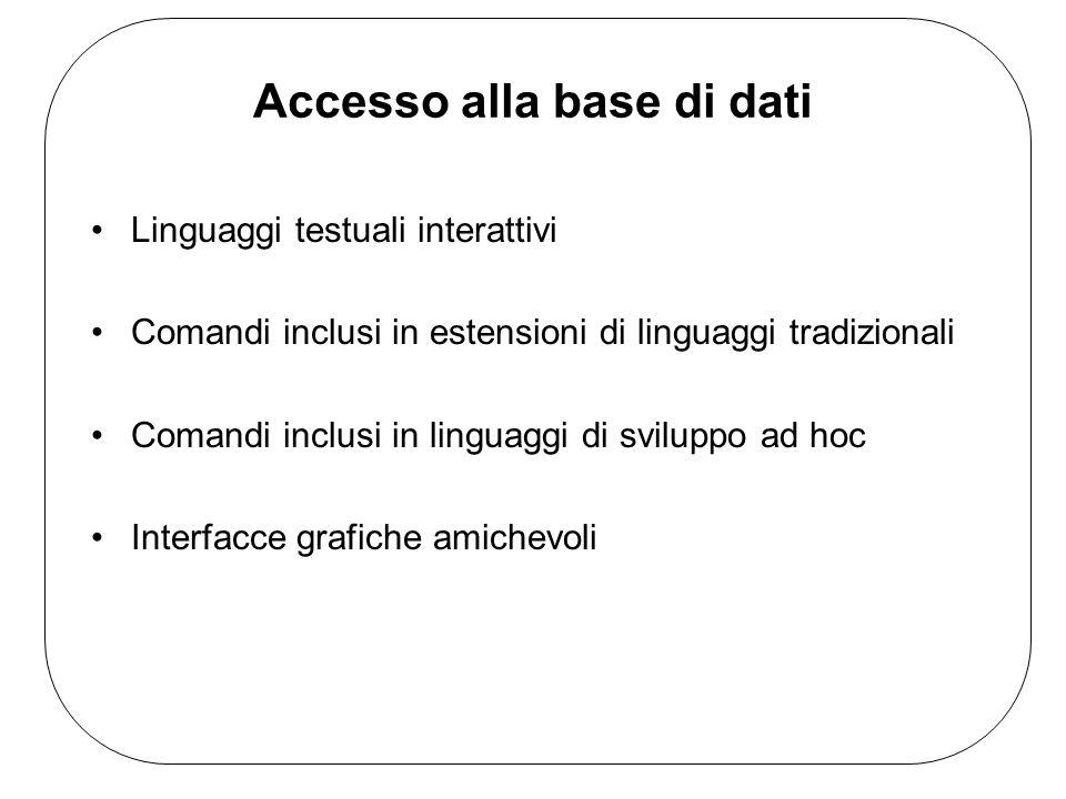 Accesso alla base di dati