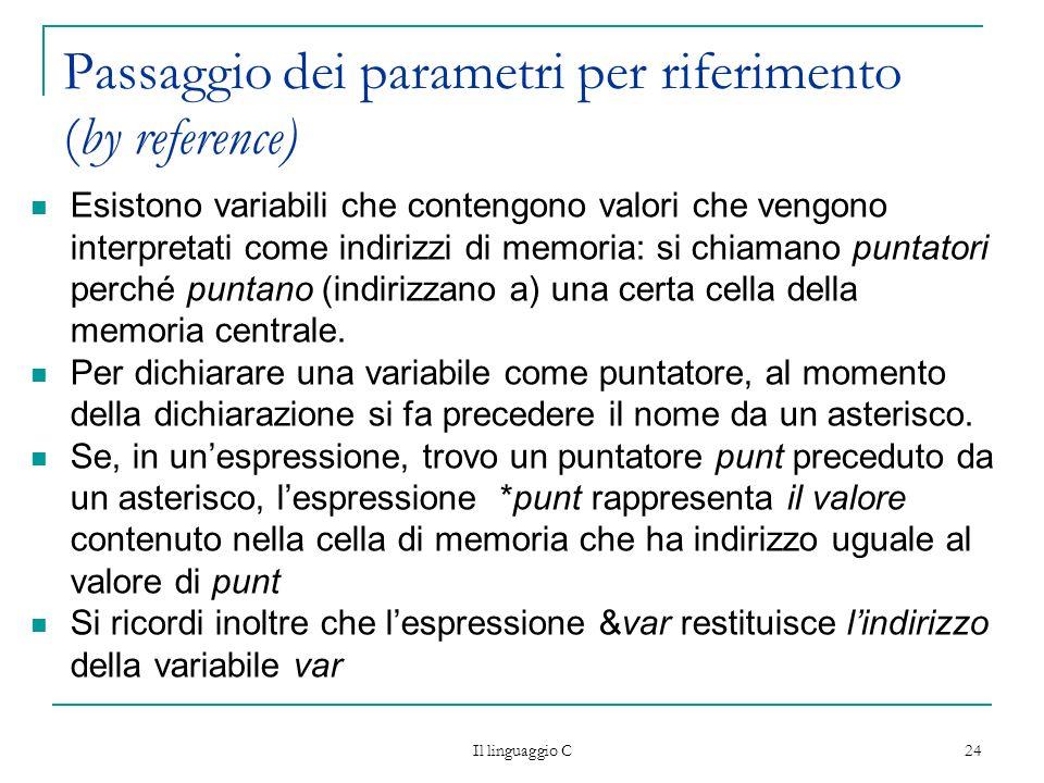 Passaggio dei parametri per riferimento (by reference)