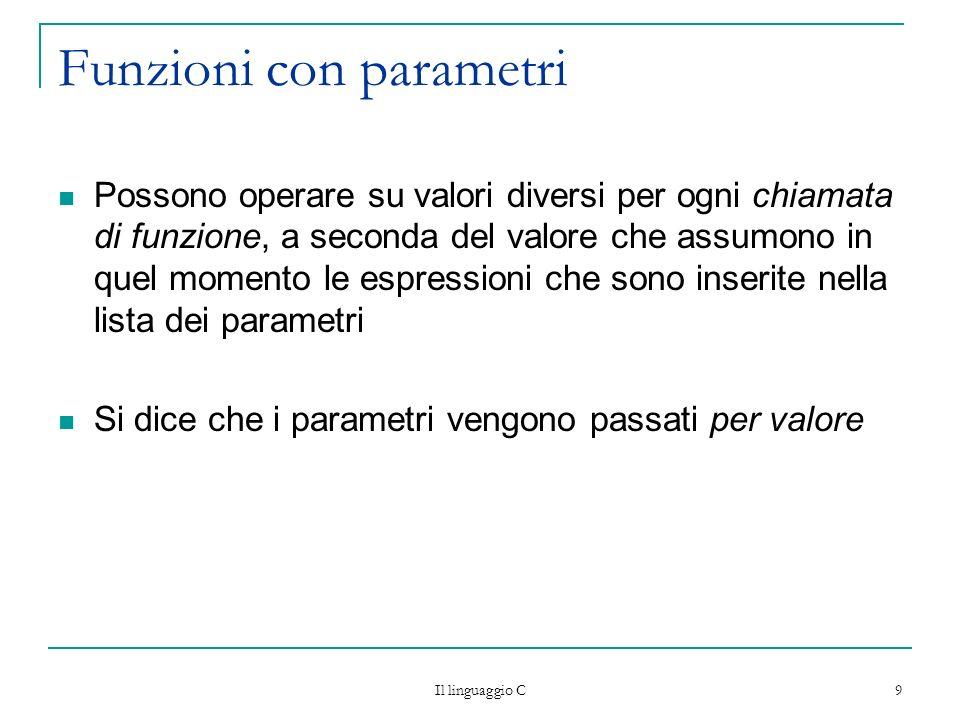 Funzioni con parametri