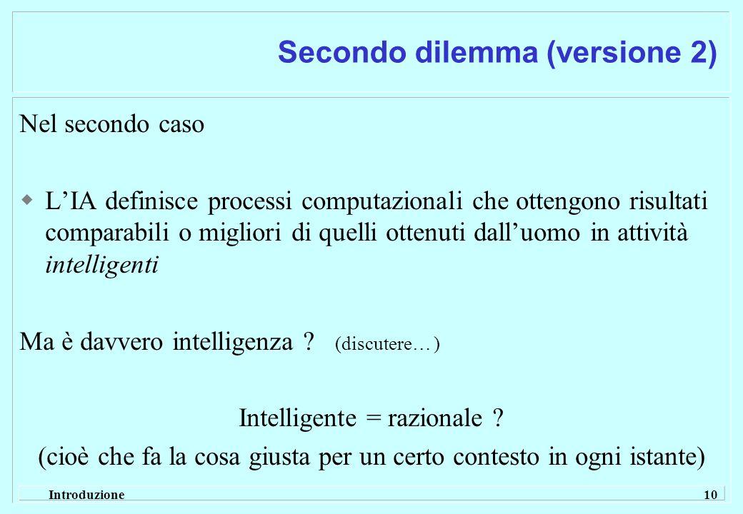 Secondo dilemma (versione 2)