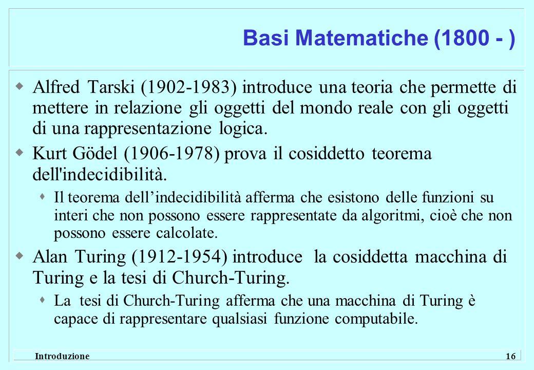 Basi Matematiche (1800 - )