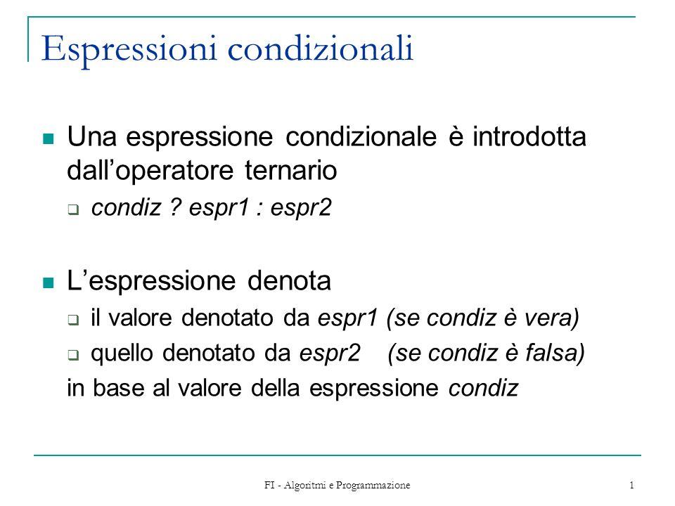 Espressioni condizionali