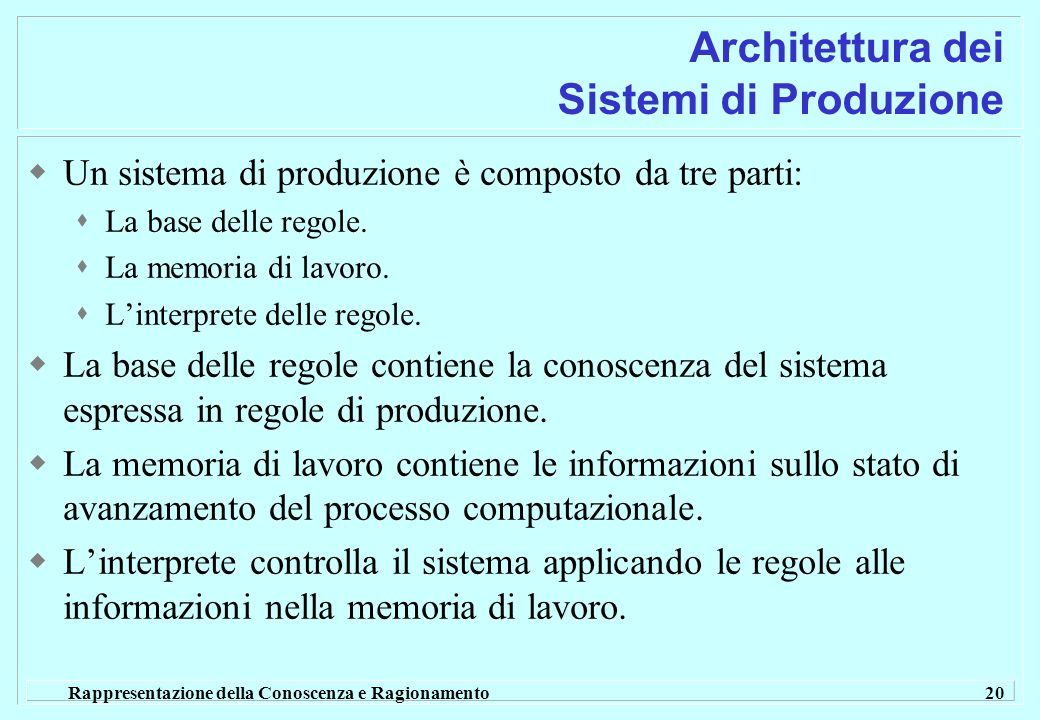 Architettura dei Sistemi di Produzione