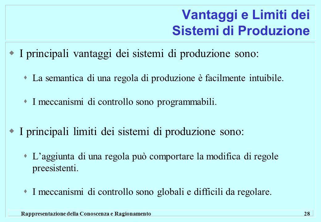 Vantaggi e Limiti dei Sistemi di Produzione