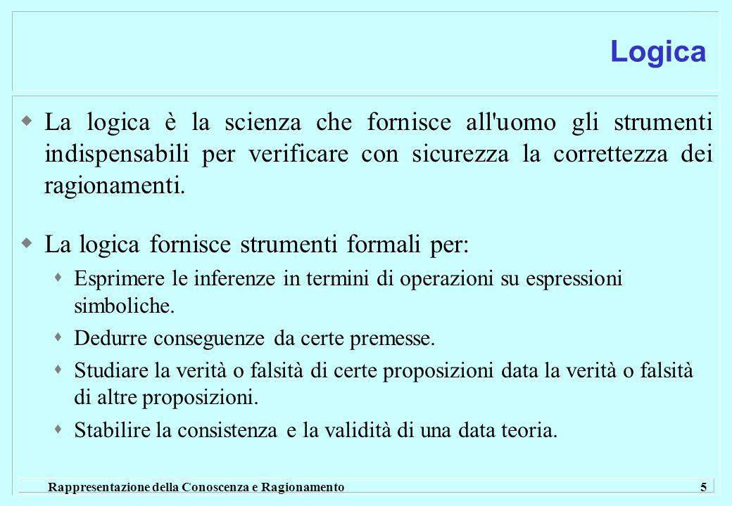 Logica La logica è la scienza che fornisce all uomo gli strumenti indispensabili per verificare con sicurezza la correttezza dei ragionamenti.