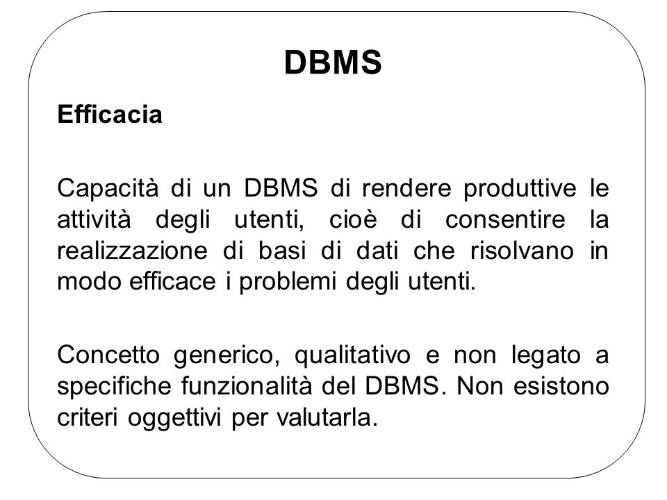 DBMSEfficacia.