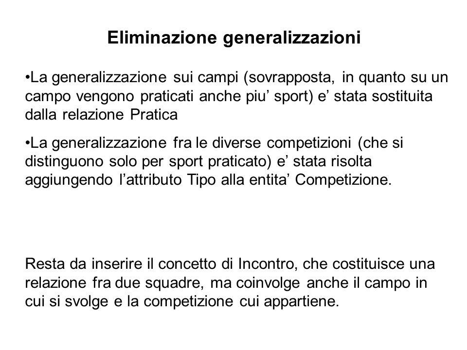 Eliminazione generalizzazioni