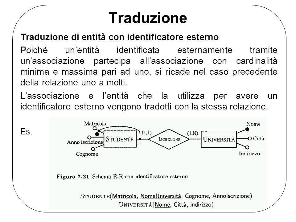 Traduzione Traduzione di entità con identificatore esterno
