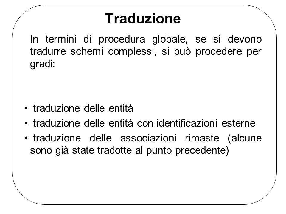 Traduzione In termini di procedura globale, se si devono tradurre schemi complessi, si può procedere per gradi: