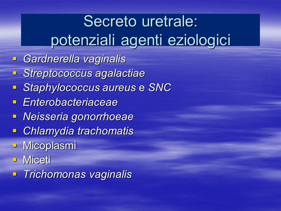 Secreto uretrale: potenziali agenti eziologici