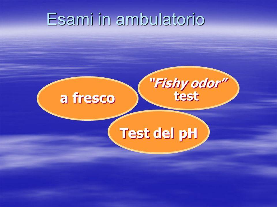 Esami in ambulatorio Fishy odor test a fresco Test del pH