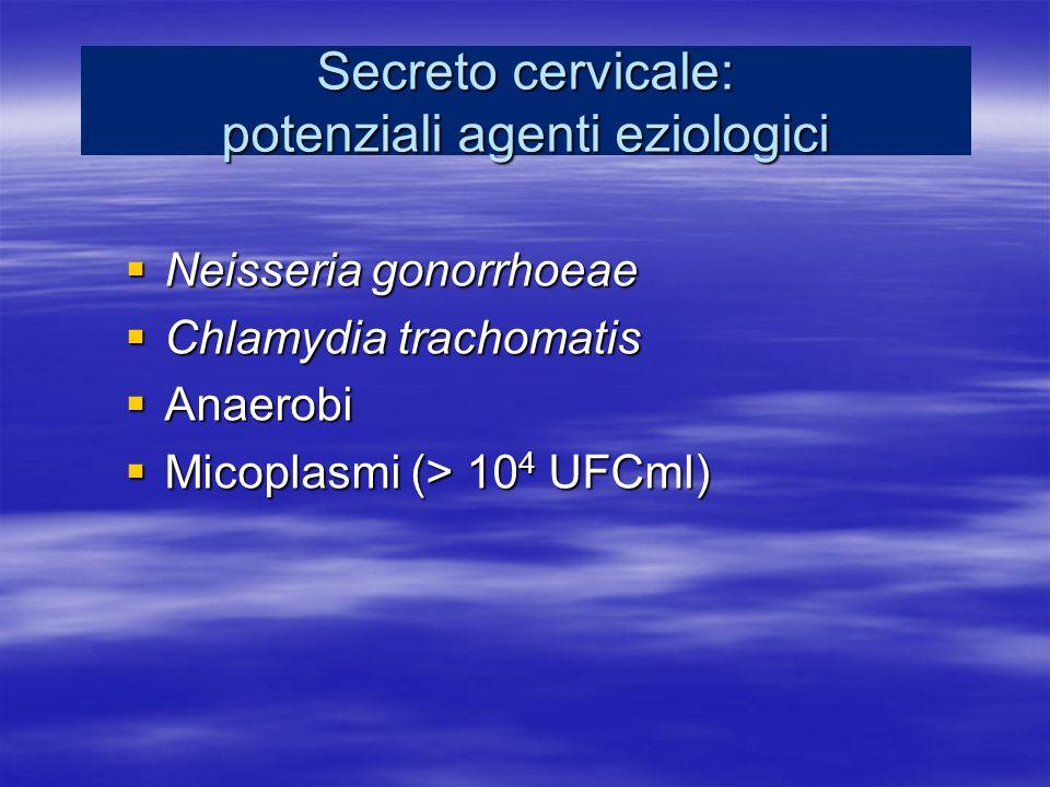Secreto cervicale: potenziali agenti eziologici