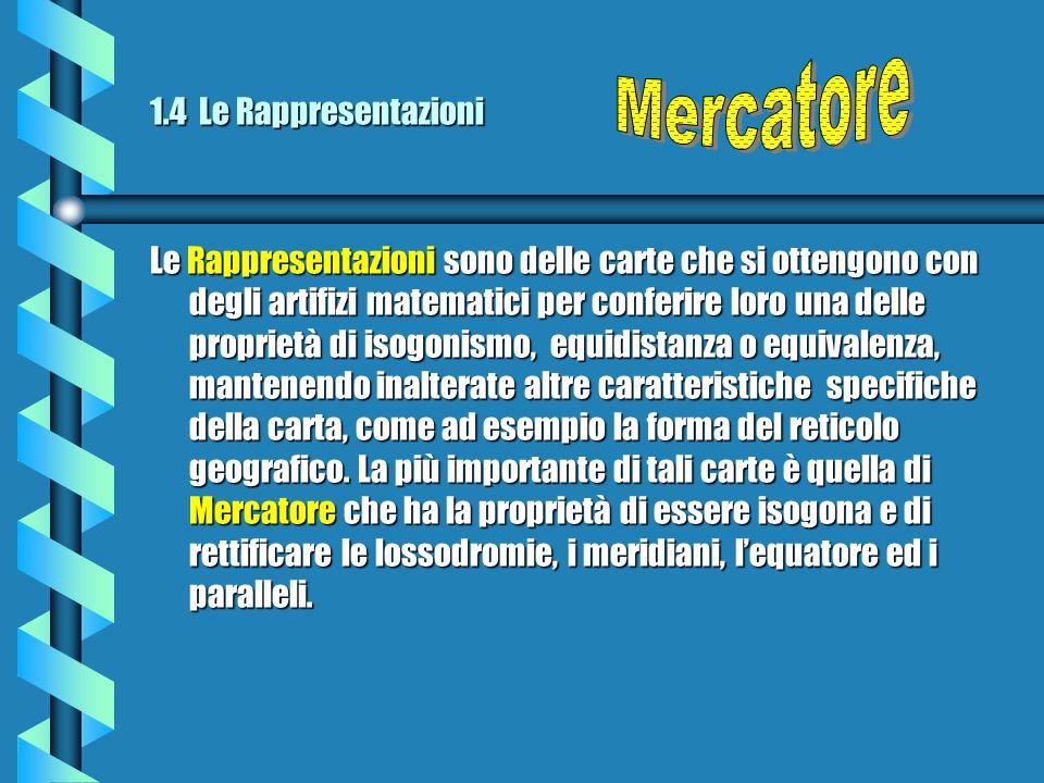 Mercatore 1.4 Le Rappresentazioni