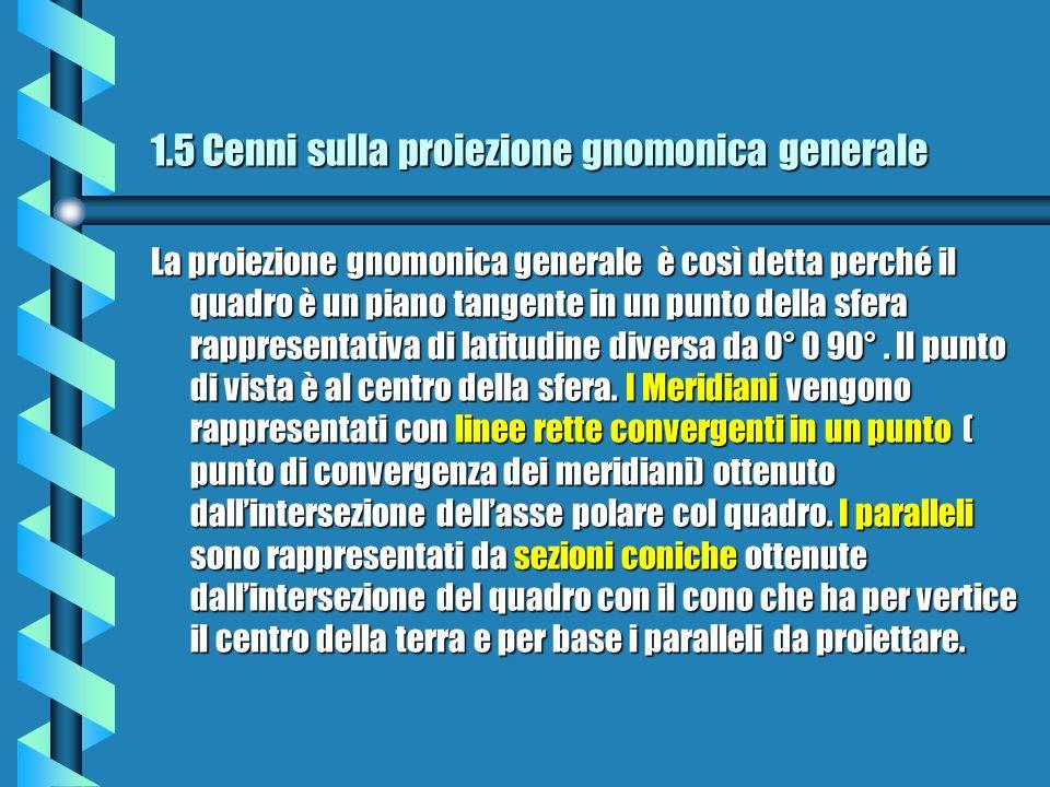 1.5 Cenni sulla proiezione gnomonica generale
