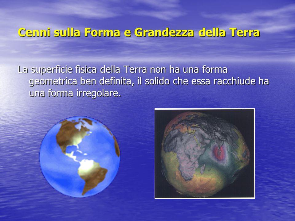 Cenni sulla Forma e Grandezza della Terra