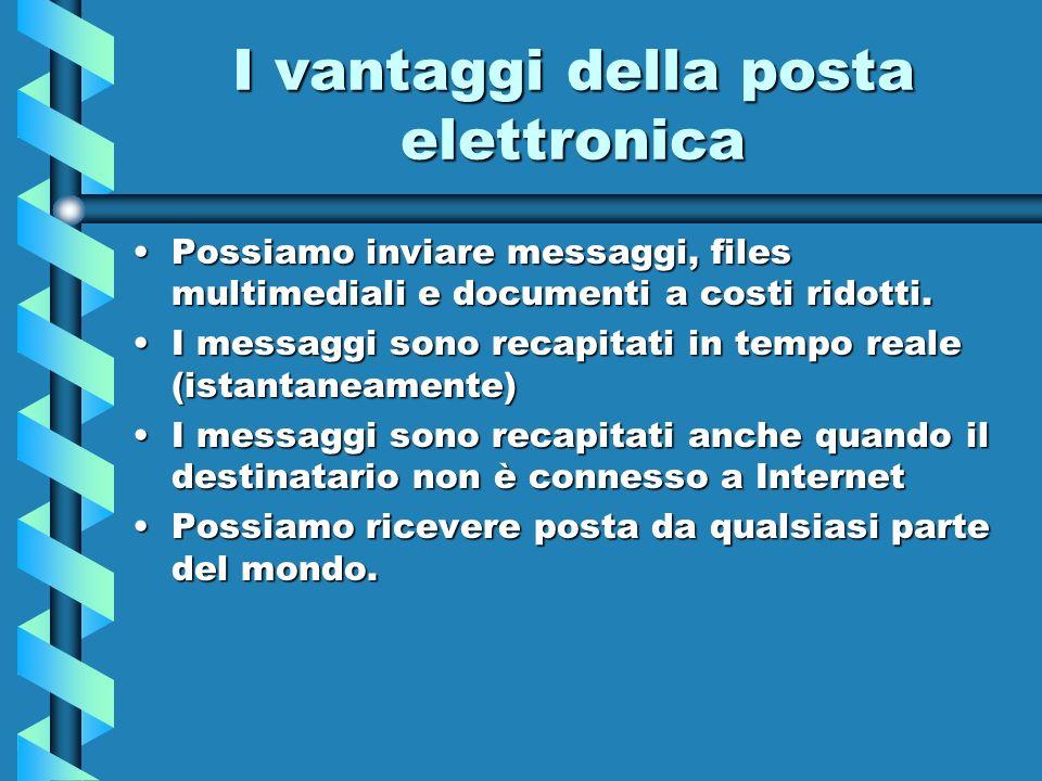 I vantaggi della posta elettronica