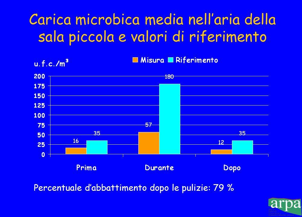 Percentuale d'abbattimento dopo le pulizie: 79 %