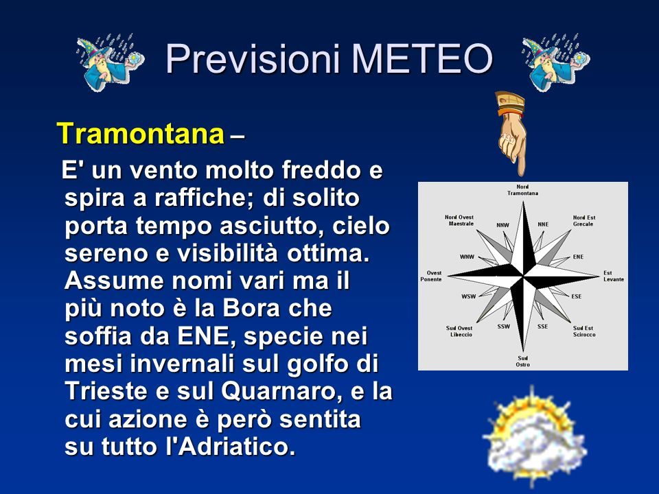 Previsioni METEO Tramontana –