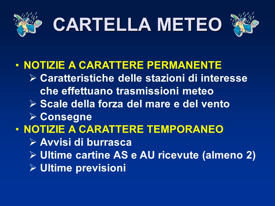 CARTELLA METEO NOTIZIE A CARATTERE PERMANENTE