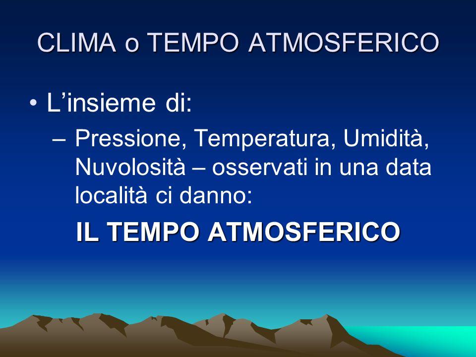 CLIMA o TEMPO ATMOSFERICO